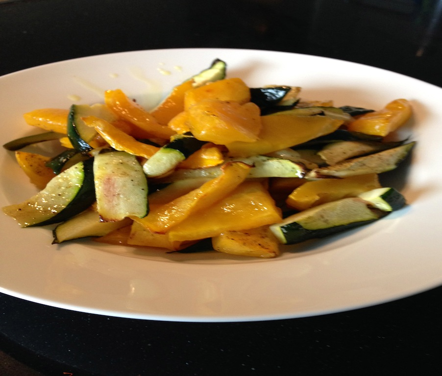 Pompoen/Courgette salade